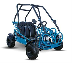 Kandi 125cc Kids Go Kart, 3-Speed with Reverse, blue