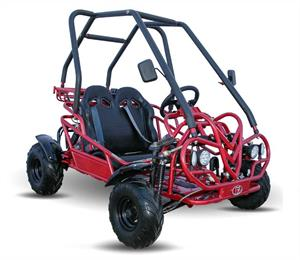 Kandi 125cc Kids Go Kart, 3-Speed with Reverse, red