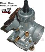 Mikuni Carburetor 22mm, for Honda GX120/160/200 and clones