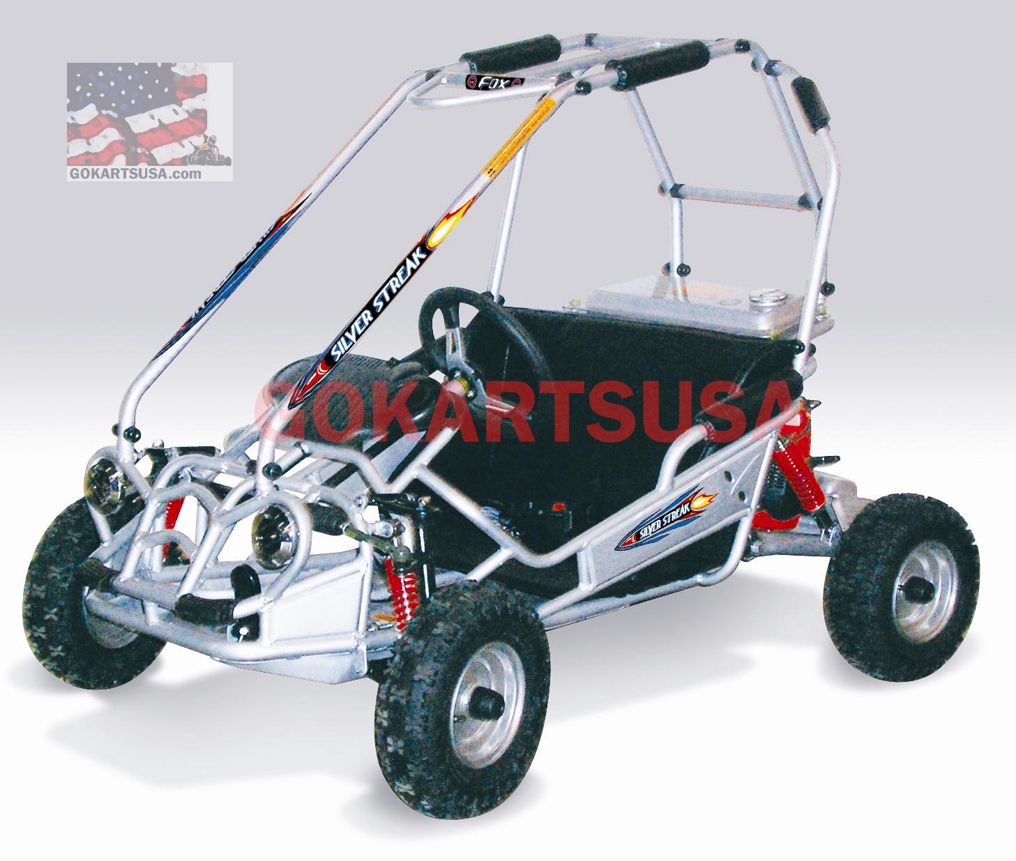 aswss21 silver streak gokart by american sportworks, free shipping  at bakdesigns.co